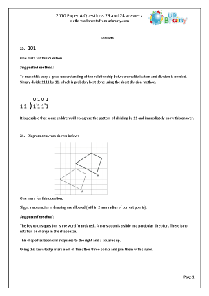 23 and 24 Answers and Suggested Method