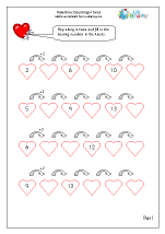 Valentine's Day: counting in twos (year 1)