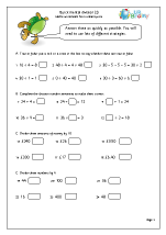 quick mental division 2 division and fractions maths worksheets for year 4 age 8 9. Black Bedroom Furniture Sets. Home Design Ideas