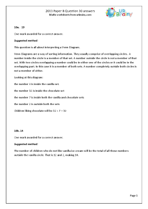 Question 10 Answers Paper B 2011
