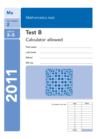 ... 2011 Paper B 2011 analysed Maths Worksheets For KS2 Maths SAT Papers