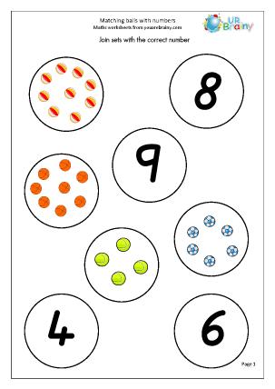 Preview of worksheet Matching balls