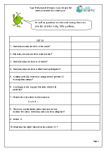 Year 4 Mental Arithmetic Sets 39 and 40