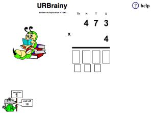 Preview of game Written Multiplication htu x u