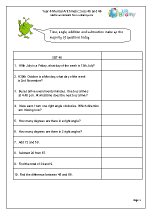Year 4 Mental Arithmetic Sets 45 and 46