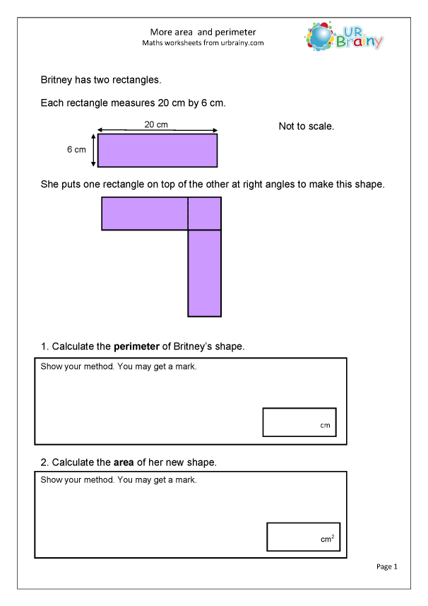 Preview of 'More area and perimeter'