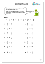 Fraction and Decimal Worksheets for Year 6 (age 10-11)