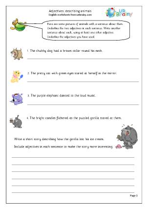 adjectives describing animals english worksheet for key stage 1. Black Bedroom Furniture Sets. Home Design Ideas