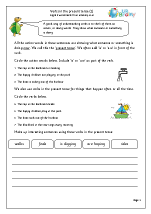 Verbs in the present tense (1)
