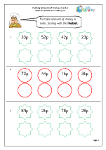 money maths worksheets for year 2 age 6 7. Black Bedroom Furniture Sets. Home Design Ideas