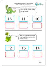 Order numbers up to 20: dinosaurs