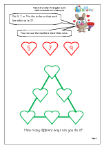 Valentine's Day: triangular sums