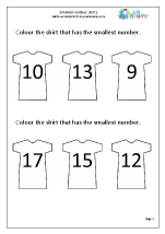 Smallest number - shirts