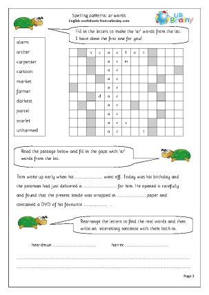 Worksheet Spelling Rules Worksheets general rules english worksheets for middleupper primary spelling ar words