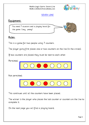 Preview of worksheet Seven Line