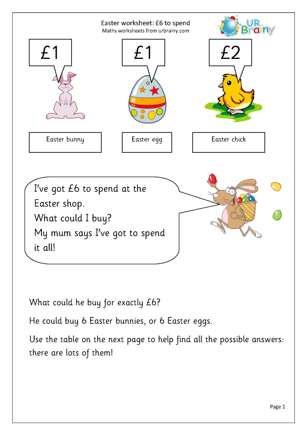 Preview of 'Easter: £6 to spend'