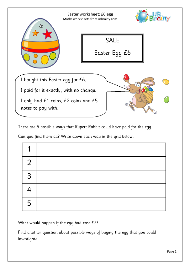 Preview of 'Easter: £6 egg'