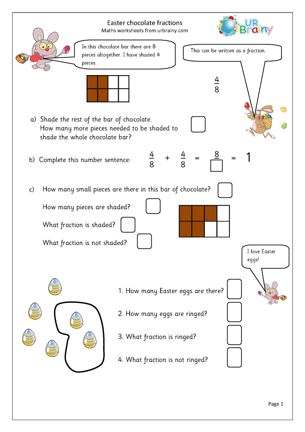 Preview of 'Easter: chocolate fractions'