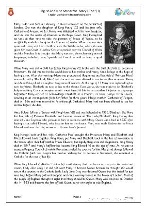 Queens of England: Mary Tudor (1)