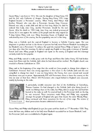 Queens of England: Mary Tudor (2)