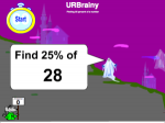 Find 25 Percent: time challenge