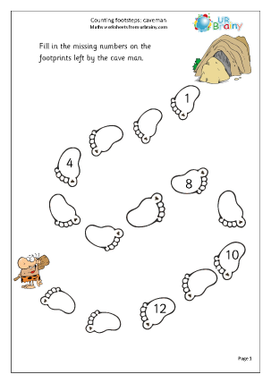 Preview of worksheet Extension: counting footsteps