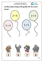 Using the add sign: balloons