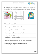 Christmas card word problems