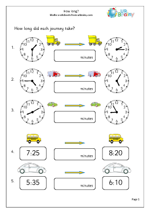 Preview of worksheet How long?