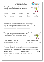 Fireworks: Vocabulary and writing