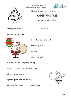 Preview of worksheet Christmas tree 4