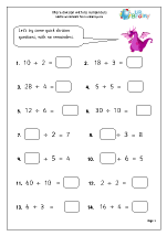 Division Maths Worksheets for Year 3 (age 7-8)