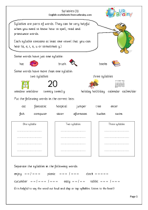 Syllables 1