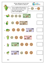 Adding coins and notes