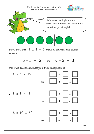 math worksheet : multiplication and division inverse worksheets year 3  worksheets : Division And Multiplication Worksheet
