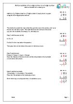Written addition 3-digit number plus 2-digit number