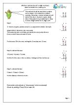 Written Subtraction of 2-digit Numbers