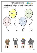 Using the subtraction sign (2)
