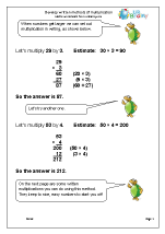 Develop Written Methods of Multiplication