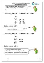 Develop written methods of multiplication