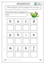 Alphabet: putting letters in order (1)