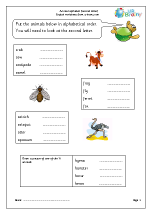 Sorting animal names (second letter)