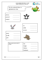 Sorting animal names (third letter or more)