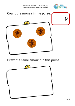 Preview of worksheet Count the coins 3