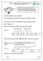 Begin to Understand Written Methods of Multiplication