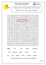 Year 3 Data Word Search