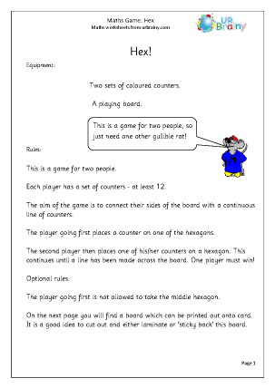 Preview of worksheet Hex