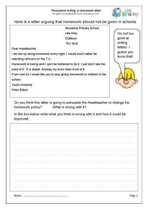 Homework help letter writing