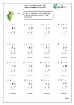 Standard written multiplication (7x table)