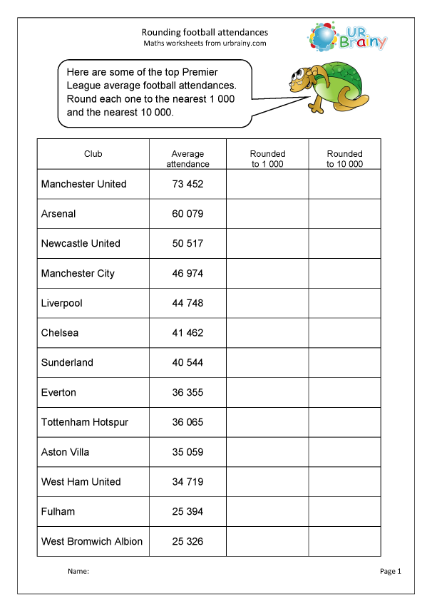 Preview of 'Rounding  to 1000 and 10000:  football attendances'